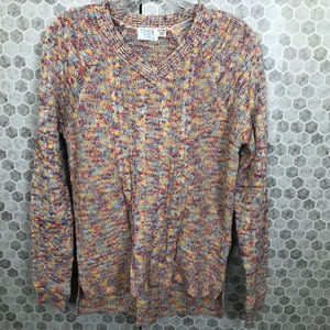 Time and Tru Vneck Sweater Confetti Colors Sz S